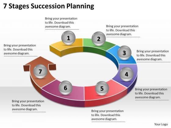 Timeline Ppt Template 7 Stages Succession Planning - Powerpoint