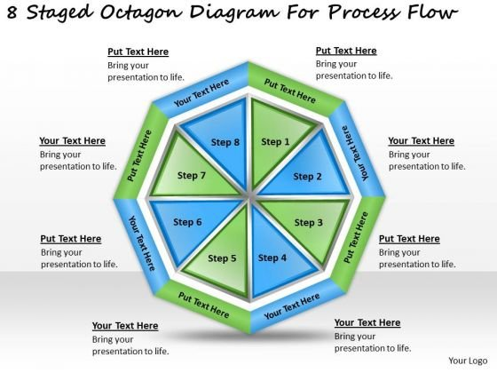 Timeline Ppt Template 8 Staged Octagon Diagram For Process Flow