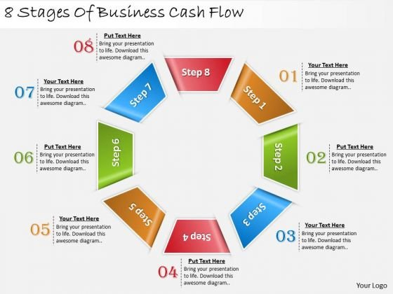 Timeline Ppt Template 8 Stages Of Business Cash Flow 1 2
