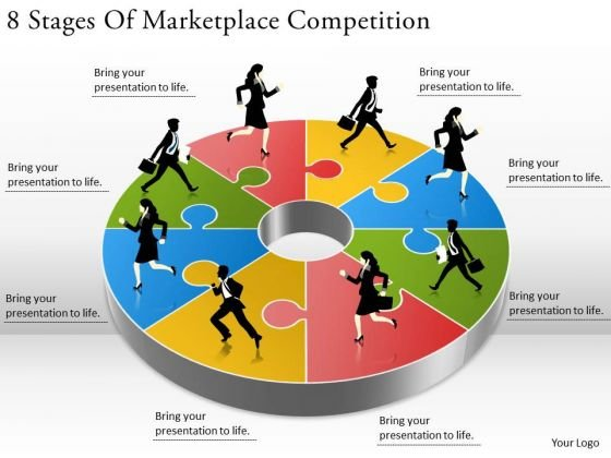 Timeline Ppt Template 8 Stages Of Marketplace Competition