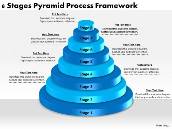 Timeline Ppt Template 8 Stages Pyramid Process Framework