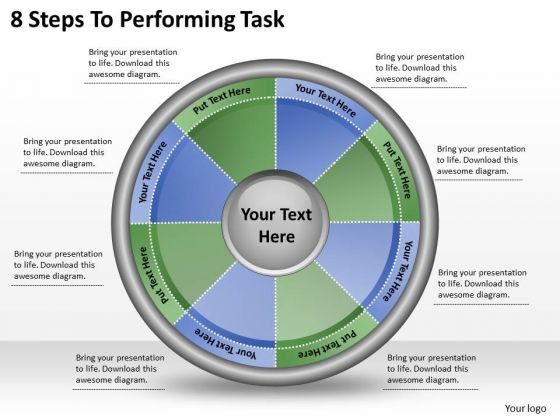 Timeline Ppt Template 8 Steps To Performing Task