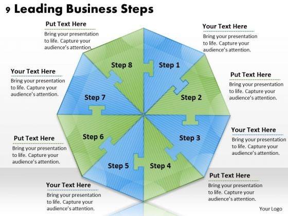 Timeline Ppt Template 9 Leading Business Steps