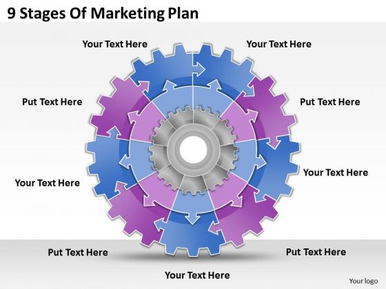 Timeline Ppt Template 9 Stages Of Marketing Plan