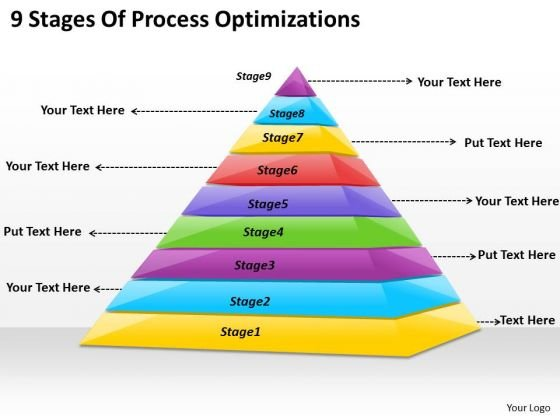 Timeline Ppt Template 9 Stages Of Process Optimazation