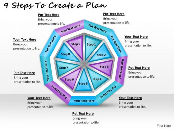 Timeline Ppt Template 9 Steps To Create A Plan