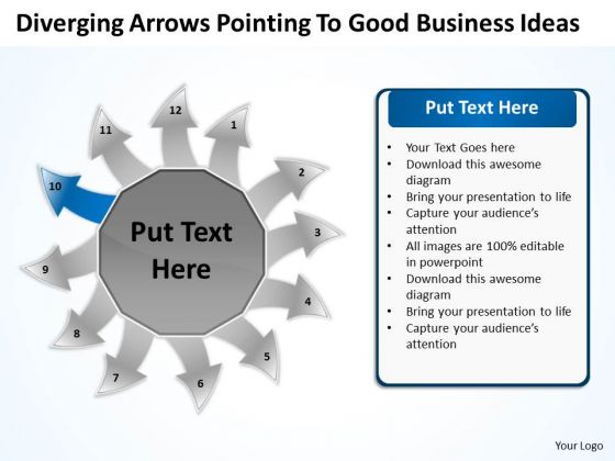 To Good Business PowerPoint Theme Ideas Circular Spoke Process Template