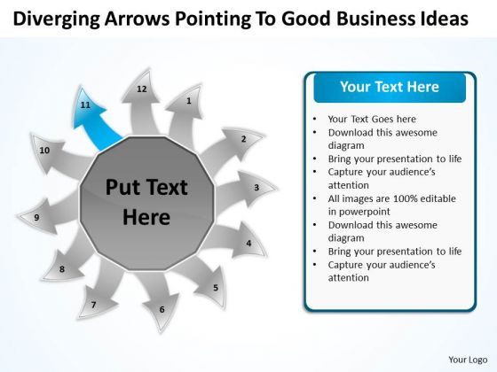 To Good Business PowerPoint Theme Ideas Circular Spoke Process Templates