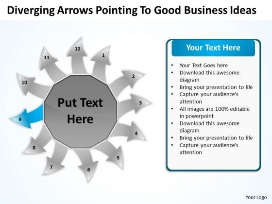 To Good Business PowerPoint Theme Ideas Ppt Circular Spoke Process Templates