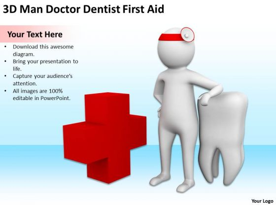 Top Business People 3d Man Doctor Dentist First Aid PowerPoint Templates