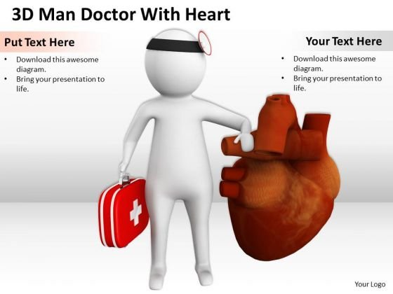 Top Business People 3d Man Doctor With Heart PowerPoint Templates