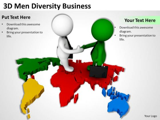 Top Business People 3d Men Diversity PowerPoint Theme Templates