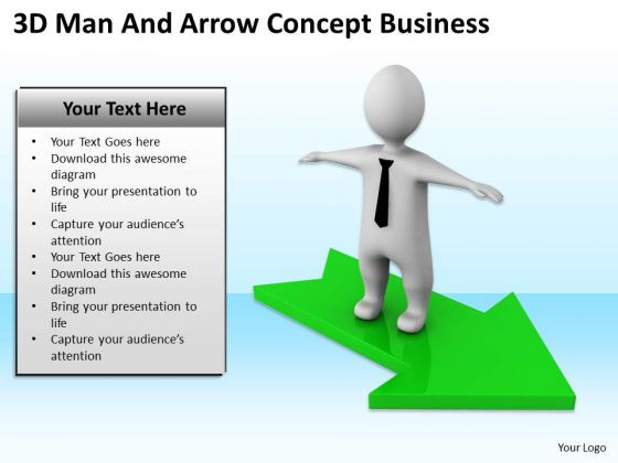Top Business People Man And Arrow Concept PowerPoint Templates Download Slides