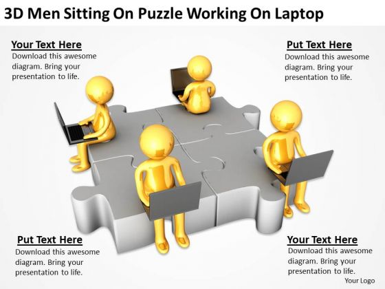 Top Business People On Puzzle Working Laptop PowerPoint Templates Ppt Backgrounds For Slides