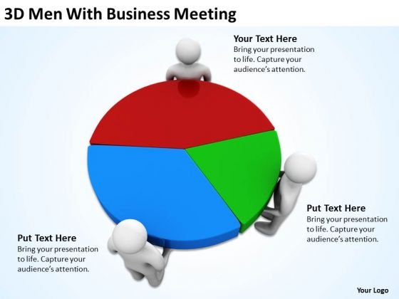 Top Business People With PowerPoint Templates Free Download Meeting
