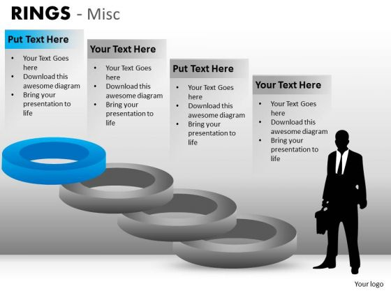 Top Rung Of Rings PowerPoint Templates Editable Ppt Slides