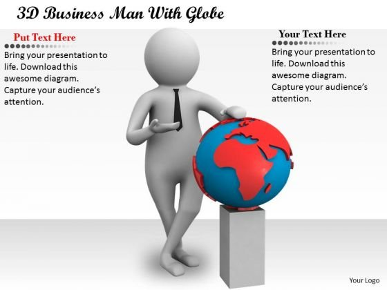 Total Marketing Concepts 3d Business Man With Globe Characters