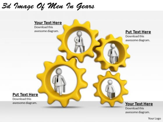 Total Marketing Concepts 3d Image Of Men Gears Basic Business