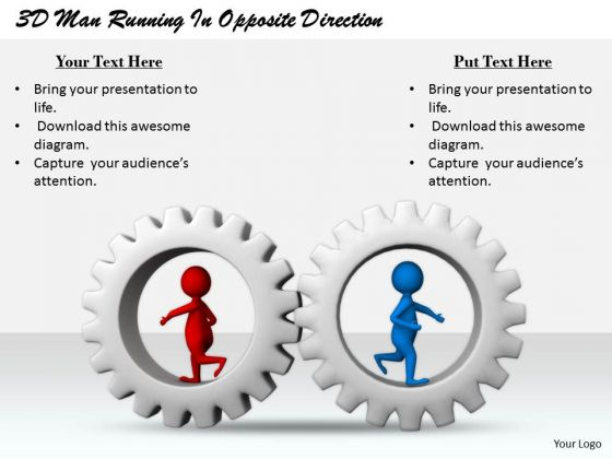 Total Marketing Concepts 3d Man Running Opposite Direction Business
