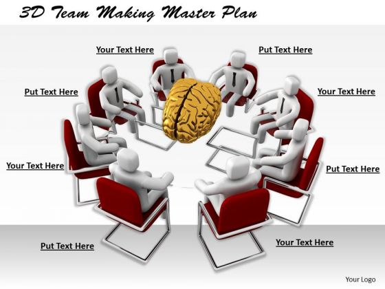 Total Marketing Concepts 3d Team Making Master Plan Business Statement