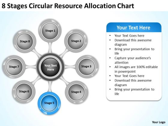 Total Marketing Concepts Circular Resource Allocation Chart Business Intelligence Strategy