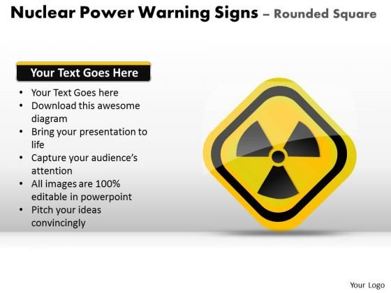 Toxic Power Warning Signs Circles Rounded Square PowerPoint Slides And Ppt Diagram Templates