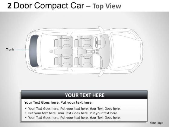 Traffic 2 Door Gray Car Top PowerPoint Slides And Ppt Diagram Templates