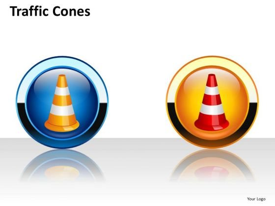 Traffic Cones PowerPoint Clipart Image Graphics Slides