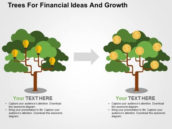 Trees For Financial Ideas And Growth PowerPoint Template