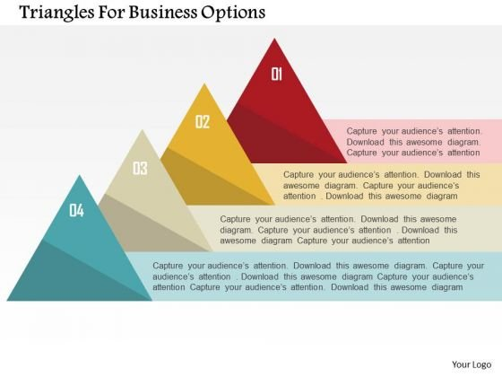Triangles For Business Options Presentation Template