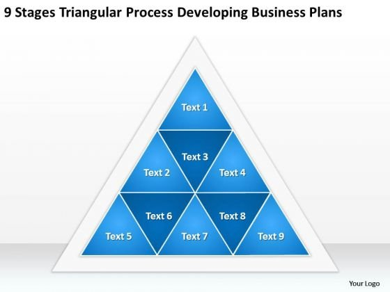 Triangular Process Developing Business Plans Ppt Starting Small PowerPoint Slides