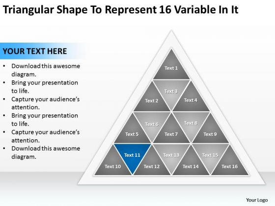 Triangular Shape To Represent 16 Variable In It Ppt New Business Ideas PowerPoint Templates