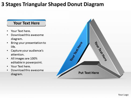 Triangular Shaped Donut Diagram Data Comparison Ppt Business Plan PowerPoint Slides