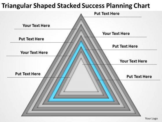 Triangular Shaped Stacked Success Planning Chart Ppt 4 Music Business PowerPoint Templates