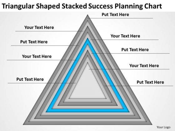 Triangular Shaped Stacked Success Planning Chart Ppt 5 Business Wiki PowerPoint Templates