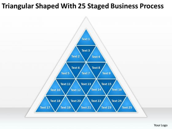 Triangular Shaped With 25 Staged Business Process Ppt Need Plan PowerPoint Templates