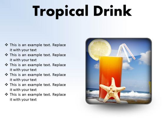 Trophical Drink Holidays PowerPoint Presentation Slides S