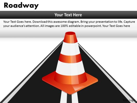 Trouble Roadway PowerPoint Slides And Ppt Diagram Templates