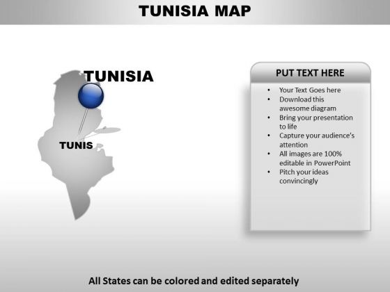 Tunisa Country PowerPoint Maps