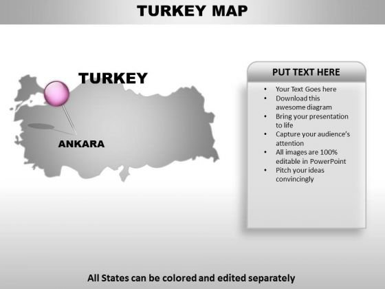 Download Editable Turkey Country Map For Turkey Powerpoint Templates