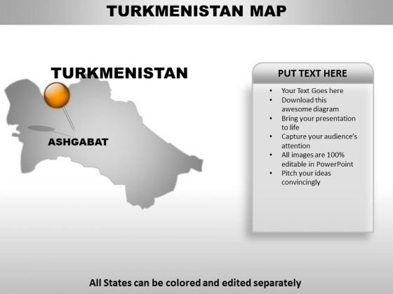 Turkmenistan Country PowerPoint Maps