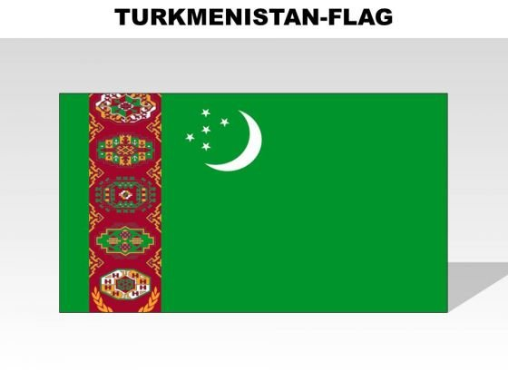 Turkmnistan Country PowerPoint Flags
