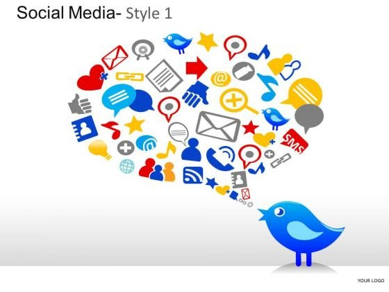 Twitter Social Media Icons PowerPoint Slides And Ppt Diagram Templates