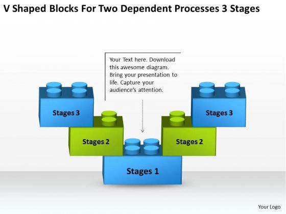 Two Dependent Processes 3 Stages Real Estate Investment Business Plan PowerPoint Templates