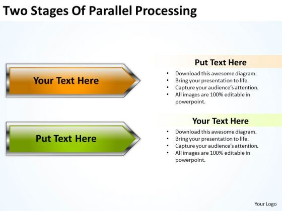 Two Stages Of Parallel Processing Business Plan PowerPoint Slides