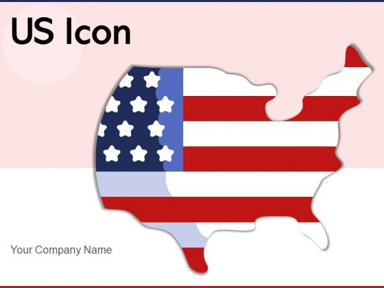 US Icon United States Flag Circular Design Ppt PowerPoint Presentation Complete Deck
