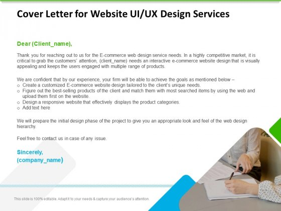 UX Design Services Cover Letter For Website UI UX Design Services Topics PDF