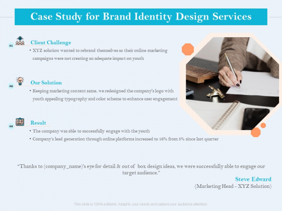 Ultimate Brand Creation Corporate Identity Case Study For Brand Identity Design Services Ppt Inspiration Background Images PDF
