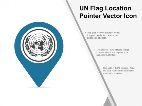 Un Flag Location Pointer Vector Icon Ppt PowerPoint Presentation Icon Styles