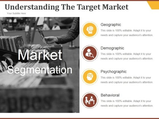 Understanding The Target Market Ppt PowerPoint Presentation Introduction